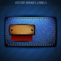 création d'étiquettes de jeans vecteur