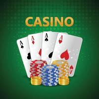 Carte d'invitation de luxe vip tournoi de casino avec roulette de casino vecteur