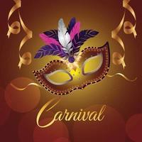 illustration vectorielle créative de mardi gras ou carnaval brésil événement et arrière-plan vecteur