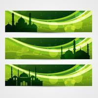 beaux en-têtes de ramadan vecteur
