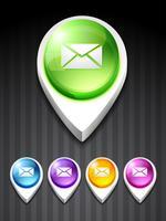 icône de courrier de vecteur