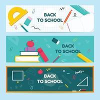 éducation retour au modèle de bannière scolaire vecteur