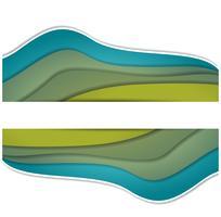 illustration de la vague colorée vecteur