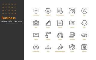 ensemble d & # 39; icônes de fine ligne d & # 39; entreprise vecteur