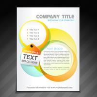 conception de flyer brochure entreprise créative vecteur