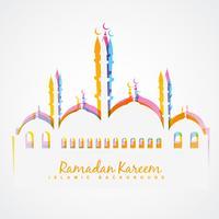 fond de festival islamique coloré vecteur