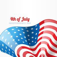 conception de style de drapeau américain