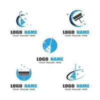 modèle de logo de nettoyage vecteur