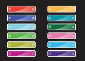 collection de boutons colorés, conception de vecteur. vecteur