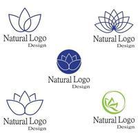 modèle de logo de fleurs de lotus vecteur