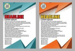 conception de dépliant de brochure d'entreprise et mise en page de template.cover, affiche, magazine et autres utilisations.illustration vectorielle.