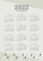 calendrier de conception de crème glacée 2022 vecteur