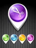 icône de ciseaux vecteur