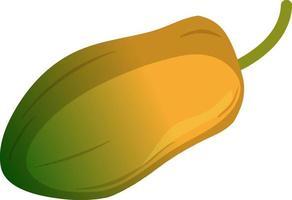 Un style de dessin animé isolé de fruits de papaye sur fond blanc vecteur