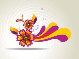 Art floral abstrait vecteur