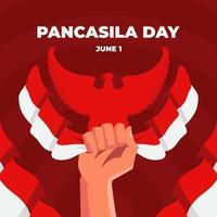 esprit de célébration de la journée pancasila vecteur