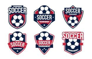 collection de badges de tournoi de football vecteur