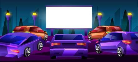 concept de conception de films de voiture vecteur