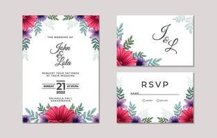 modèle d'invitation de mariage vecteur