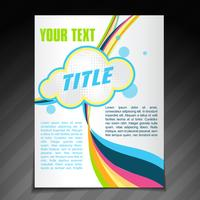 conception de brochure vague abstraite vecteur