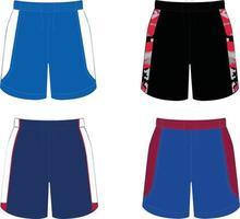 maquettes de shorts de basket-ball vecteur