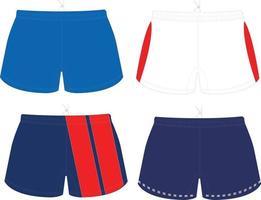 modèles de maquettes de shorts vecteur