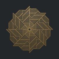 lignes d'or ornementales de luxe abstraites sur fond noir. illustration vectorielle vecteur