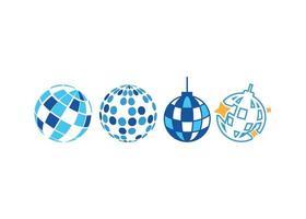 boule disco icône illustration vectorielle ensemble vecteur