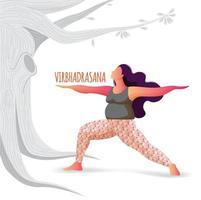 femme, pratiquer, yoga, pose