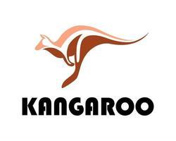 illustration vectorielle de ligne art sur fond blanc d'un kangourou. Convient pour la création de logo. vecteur