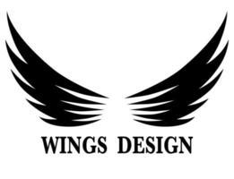 illustration vectorielle de conception de logo aile animale noire adaptée à la marque ou au symbole.
