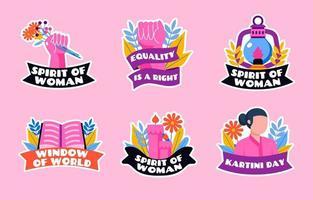 pionnière des droits des femmes et de l'égalité en Indonésie vecteur