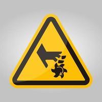 coupe des doigts signe de symbole de lame rotative, illustration vectorielle, isoler sur l'étiquette de fond blanc .eps10