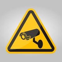 Signe de symbole de caméra de sécurité CCTV, illustration vectorielle, isoler sur l'étiquette de fond blanc .eps10 vecteur