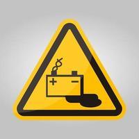 Signe de symbole de charge de batterie isoler sur fond blanc, illustration vectorielle eps.10