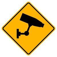 avertissement cette zone a un enregistrement vidéo de 24 heures. vecteur
