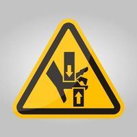 écraser la main haut en bas symbole signe, illustration vectorielle, isoler sur fond blanc étiquette .eps10