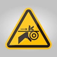 Signe de symbole de courroie et de rouleaux d'enchevêtrement de main, illustration vectorielle, isoler sur l'étiquette de fond blanc .eps10