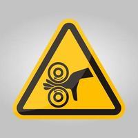 main enchevêtrement signe de symbole gauche, illustration vectorielle, isoler sur l'étiquette de fond blanc .eps10