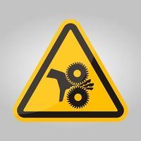 coupe des doigts signe de symbole de lames rotatives, illustration vectorielle, isoler sur l'étiquette de fond blanc .eps10