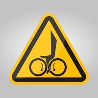 signe de symbole de rouleaux d'enchevêtrement de main, illustration vectorielle, isoler sur l'étiquette de fond blanc .eps10