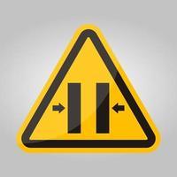 Risque d'écrasement fermeture signe de symbole de moule, illustration vectorielle, isoler sur l'étiquette de fond blanc .eps10 vecteur