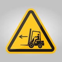 Signe de symbole gauche de point de chariot élévateur isoler sur fond blanc, illustration vectorielle eps.10