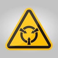 Signe de symbole de dispositif sensible électrostatique isoler sur fond blanc, illustration vectorielle eps.10