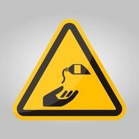 icône de ppe utiliser le signe de symbole de crème barrière isoler sur fond blanc, illustration vectorielle eps.10