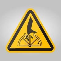Signe de symbole rotatif enchevêtrement main isoler sur fond blanc, illustration vectorielle eps.10