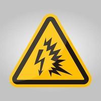 signe de symbole arc flash isoler sur fond blanc, illustration vectorielle eps.10