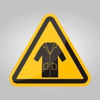 Ppe icon.wear smock symbole signe isoler sur fond blanc, illustration vectorielle eps.10 vecteur