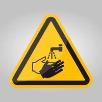 icône de ppe.wash votre symbole de la main isoler sur fond blanc, illustration vectorielle eps.10