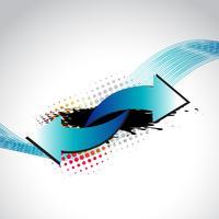 flèche abstraite de vecteur